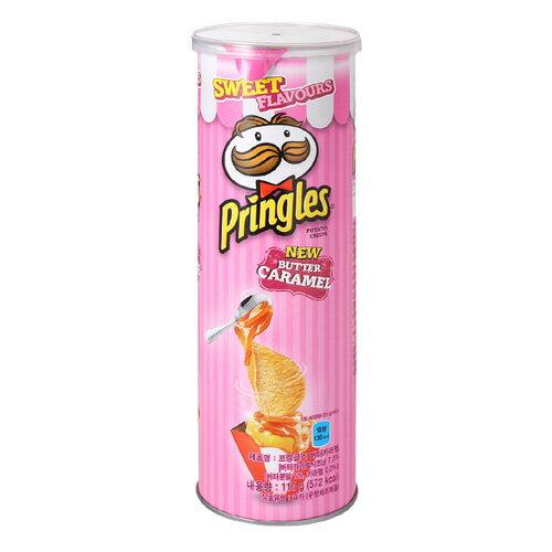 有樂町進口食品 韓國夢幻限定版 品客粉紅洋芋片 奶油焦糖口味 大罐 110g K90 8886467104725 0