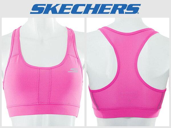 Shoestw【GWPBR680HTPK】SKECHES 運動內衣 彈性排汗衣 桃紅 透氣 素面