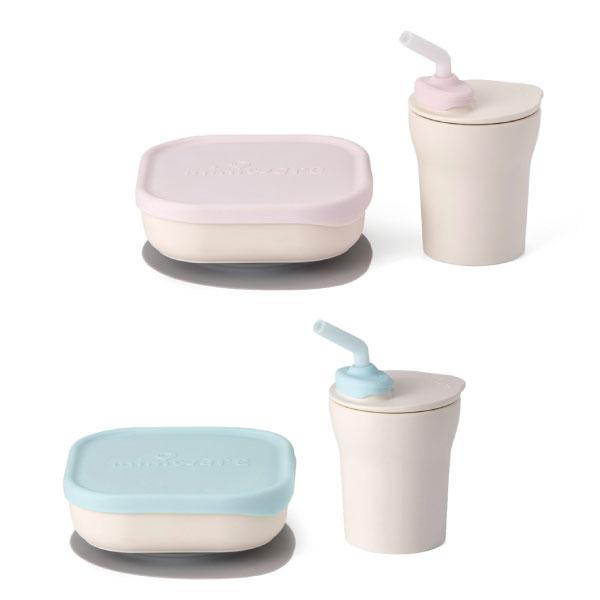 【加贈矽膠吸管3入組】Miniware 天然聚乳酸兒童學習餐具 點心時光組 (2款可選)