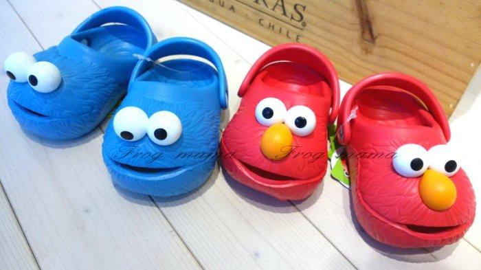 ☆青蛙媽媽☆POLLIWALKS可愛海灘鞋ELMO.餅乾怪獸涼鞋.拖鞋..