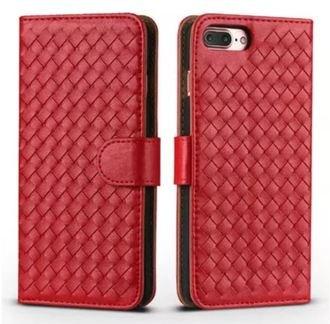 蘋果iPhone66Splus5.5吋潮Case編織紋翻蓋手機套