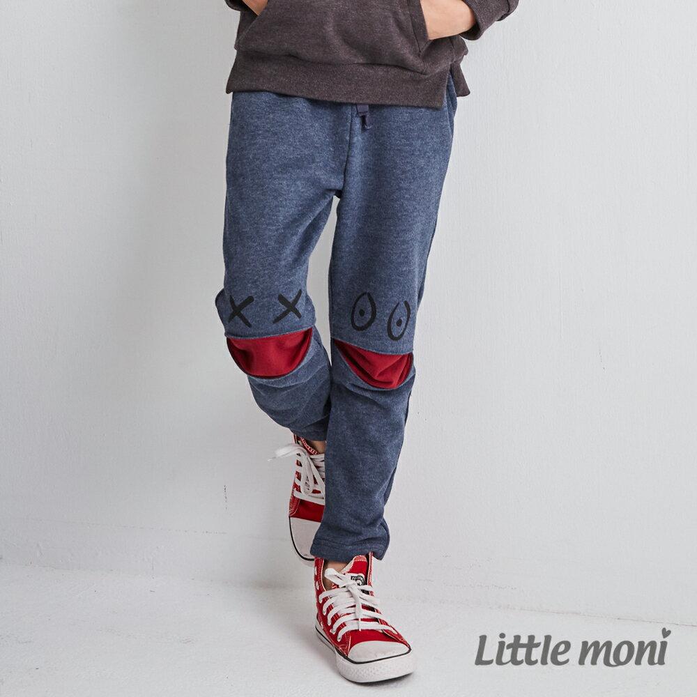 Little moni 怪獸造型休閒褲-深藍(好窩生活節) 1