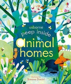 英國 Usborne 寶寶認知躲貓貓遊戲書 Peep Inside animal 動物的家 *夏日微風*