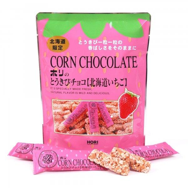 HORI北海道產草莓巧克力玉米脆餅10入(70g)