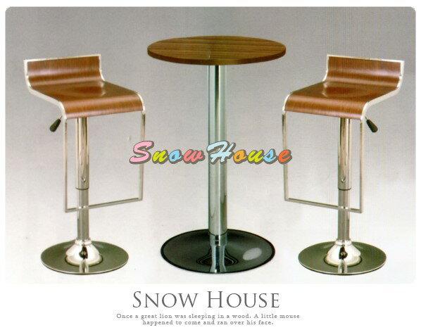 ╭☆雪之屋居家生活館☆╯AA899-08 301吧檯桌(電鍍腳/淺胡桃)/餐桌/咖啡桌/不含椅子