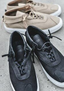 FINDSENSE服飾:FINDSENSEMD日系高品質時尚潮男磨砂牛皮透氣孔真皮綁帶低跟休閒鞋板鞋
