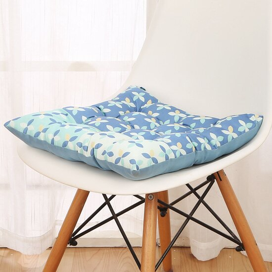 ?MY COLOR?九針式加厚坐墊 圖案 印花 靠墊 抱枕 椅墊 辦公室 學生 客廳 沙發 地板 【V49】