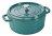 *福利品*法國 Staub 圓形鑄鐵鍋 24cm  土耳其藍 , 史大伯 - 限時優惠好康折扣