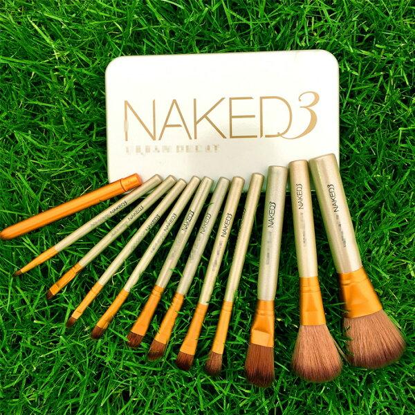 糖衣子輕鬆購【BA0013】NK3代12支便攜鐵盒化妝刷套裝彩妝刷具眼部刷具化妝刷眼影刷
