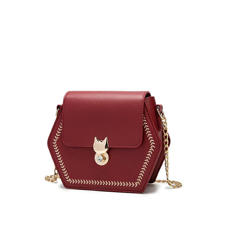 鍊條包夏季包包女2021新款潮時尚網紅小眾設計高級感流行鍊條單肩斜背包