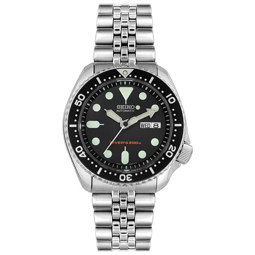 Seiko Scuba Diving Mens Stainless Steel Watch 0