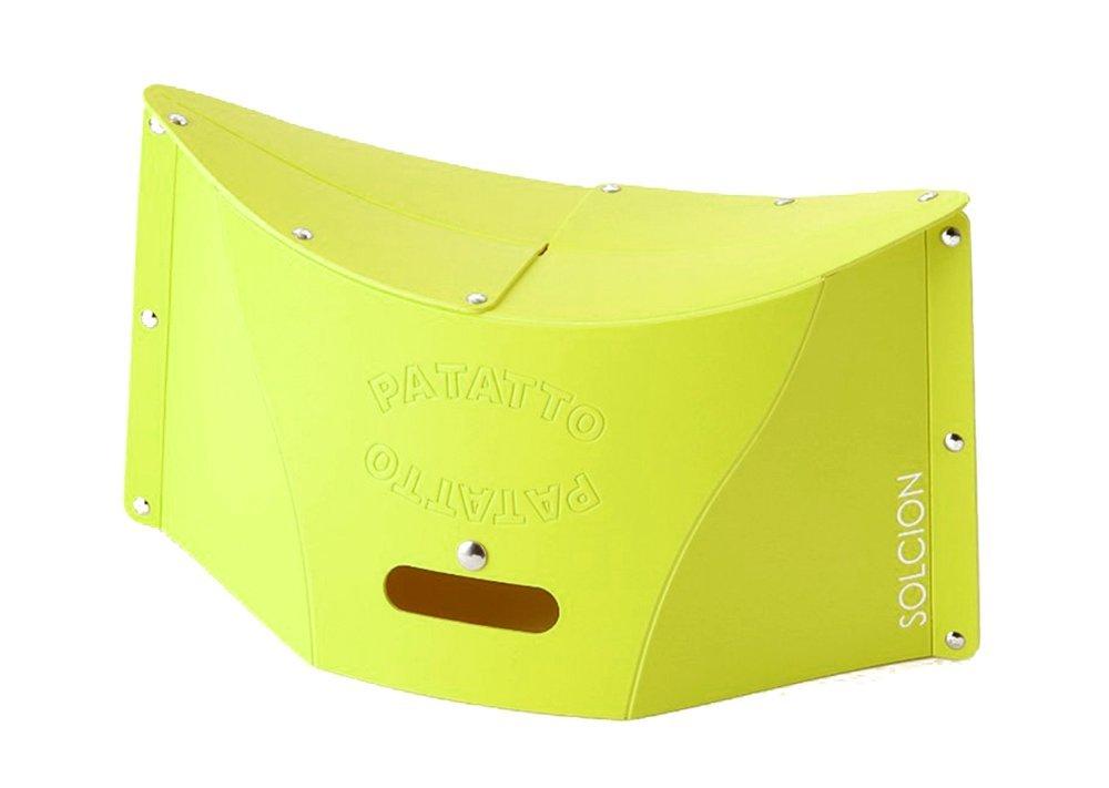 X射線【C640893】PATATTO 超輕量可折疊攜帶式椅子M-綠,露營椅/收納椅/造型椅/折疊椅/凳子/矮凳/板凳/椅子