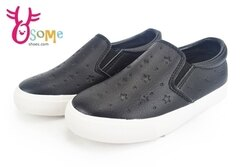 中童休閒鞋 經典暢銷款 鬆緊帶懶人便鞋K7319#黑◆OSOME奧森鞋業