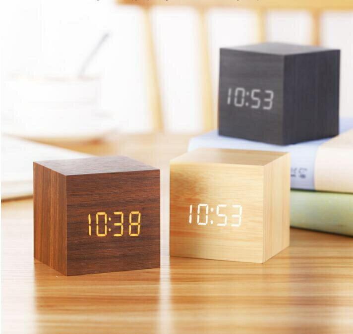 【快速出貨】迷你鬧鐘創意個性懶人學生用床頭小型簡約電子小鐘錶宿舍桌面時鐘創時代3C 交換禮物 送禮