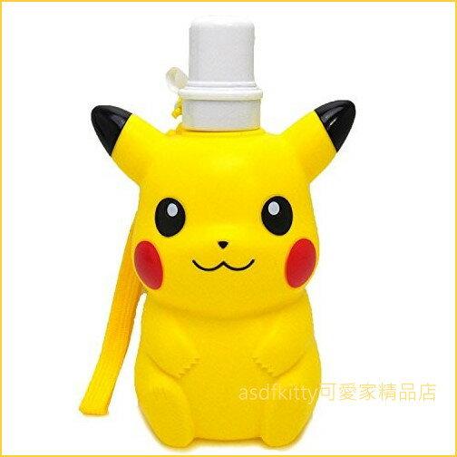 asdfkitty可愛家☆寶可夢神奇寶貝皮卡丘造型直飲水壺-500ML-日本正版商品