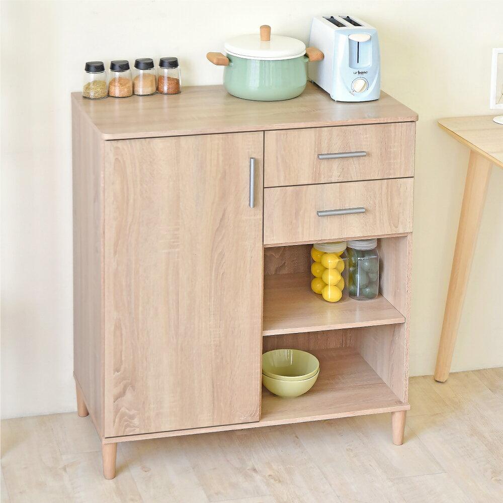 《HOPMA》家具/DIY/收納/居家/收納櫃/櫃子 伍德單門二抽廚房櫃 D-949