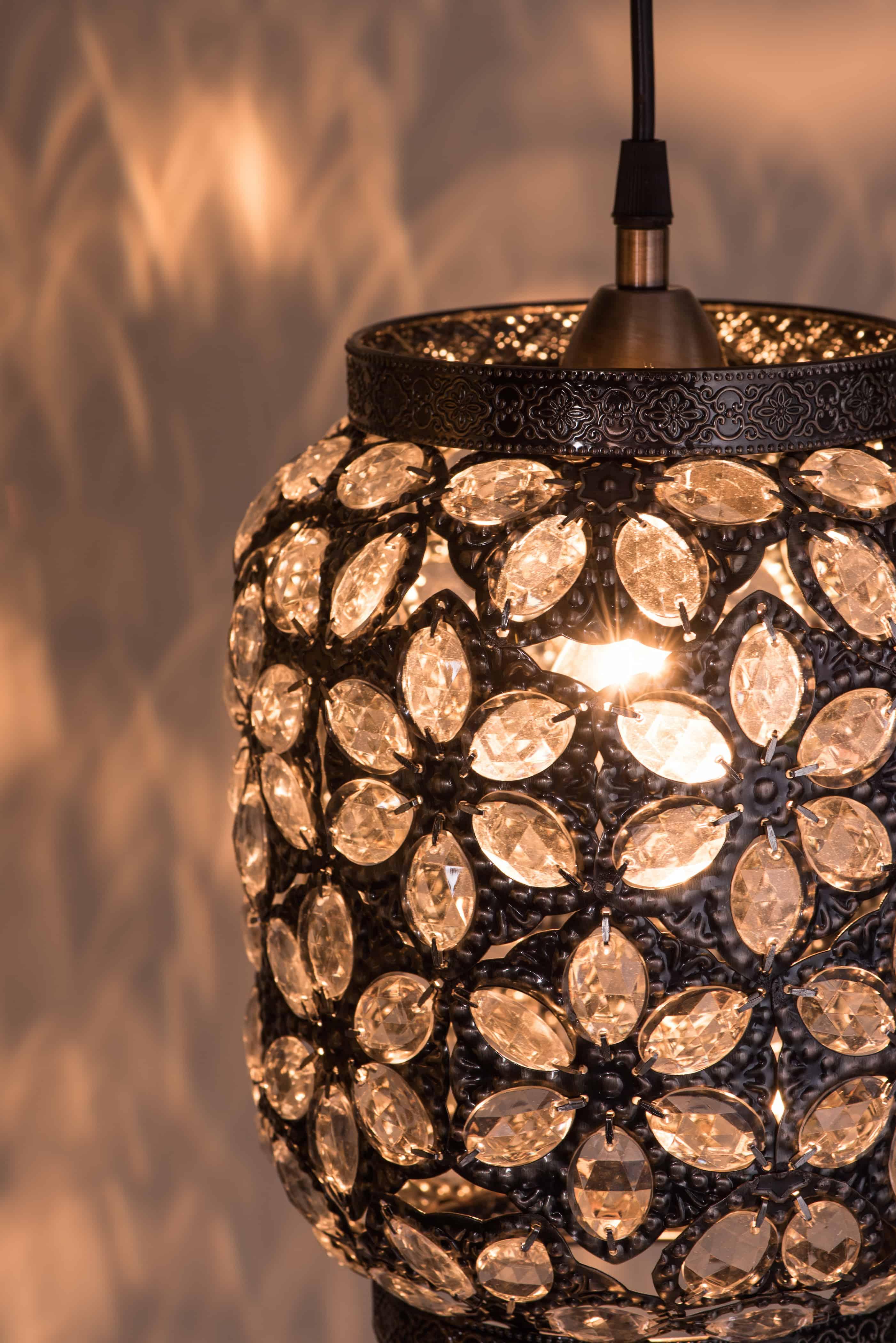 青古銅花瓣紋吊燈-BNL00071 7