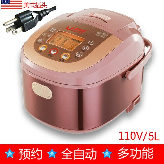 110v電飯煲出國便攜留學美國日本加拿大5L智慧電飯鍋小家電 DF