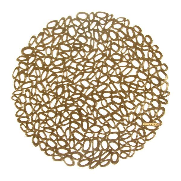 美國Chilewich卵石Pebble圓形餐墊37cm-金銅色