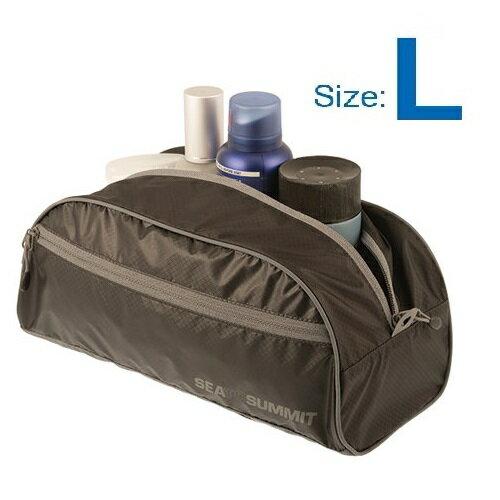 【【蘋果戶外】】Sea to summit ATLTBLBL 旅行用盥洗袋『L/4L/50g』旅行包 打理包 收納袋 化妝包 出國必備 萊姆綠 桃紅 兩色 STSATLTBLBK