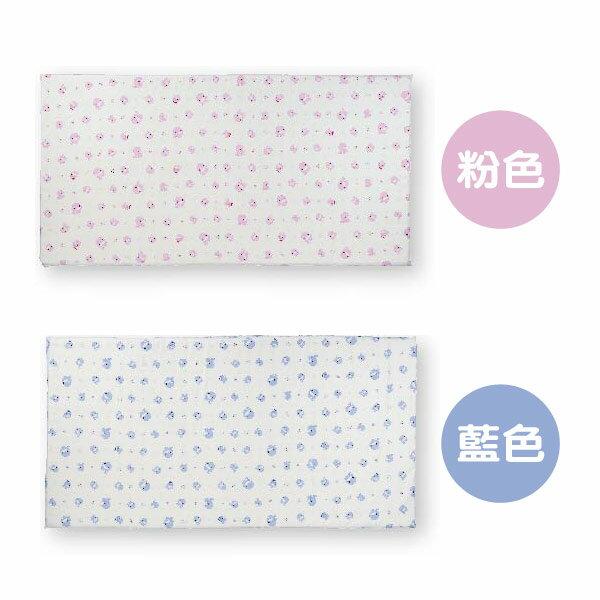 KUKU酷咕鴨舒柔透氣乳膠床墊(藍粉)【悅兒園婦幼生活館】