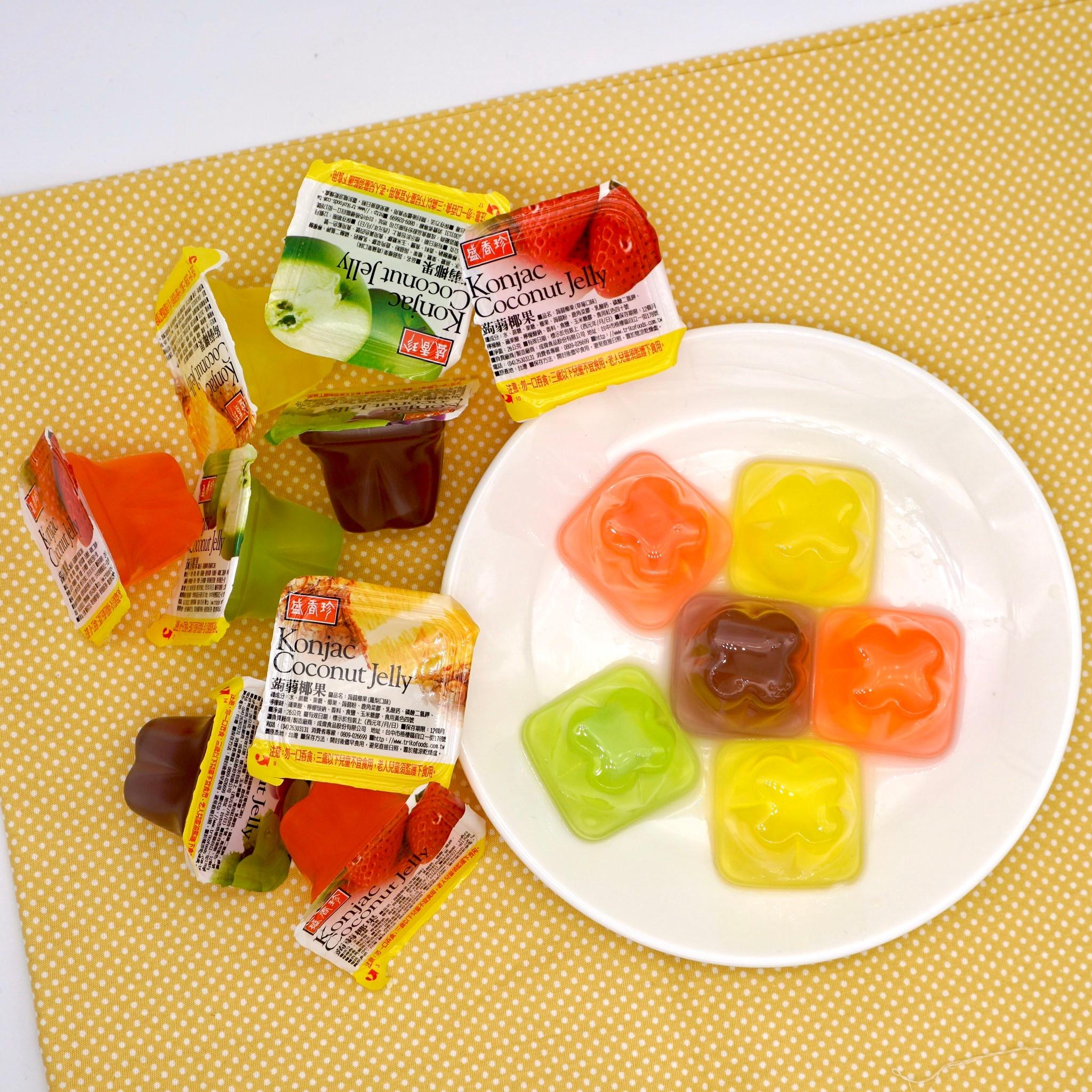 嘴甜甜 盛香珍蒟蒻椰果果凍 200公克 果凍系列 葡萄 草莓 鳳梨 蘋果 水果 果凍 蒟蒻 盛香珍 椰果 素食 現貨