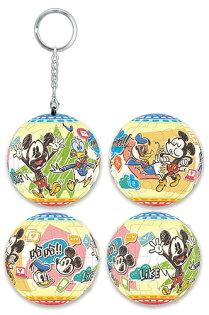 MickeyMouse&Friends米奇與好朋友(1)立體球型拼圖鑰匙圈24片-D067