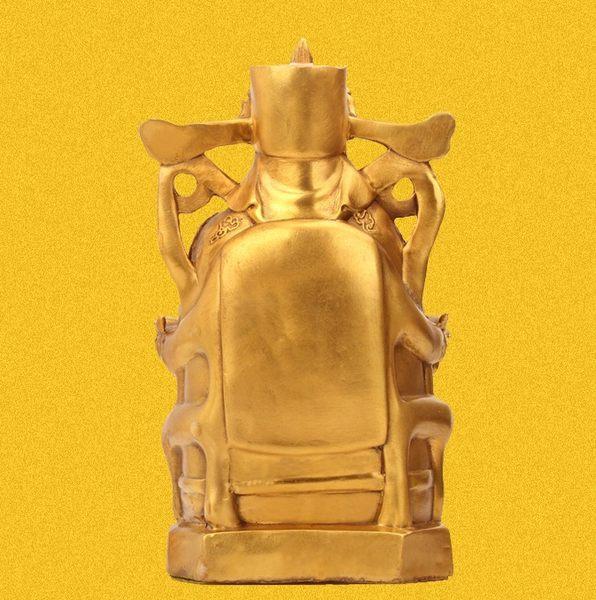 純銅聚寶盆財神爺風水擺件