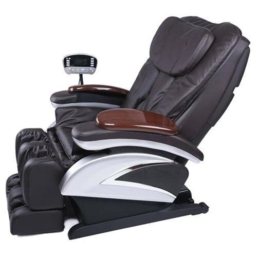 Electric Full Body Shiatsu Massage Chair Recliner Stretched Foot Rest 06C Brown 3