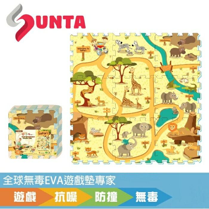 孩子國 《SUNTA拼接樂扣墊》動物樂園 EVA樂扣遊戲墊-32*32*1cm(9片裝)