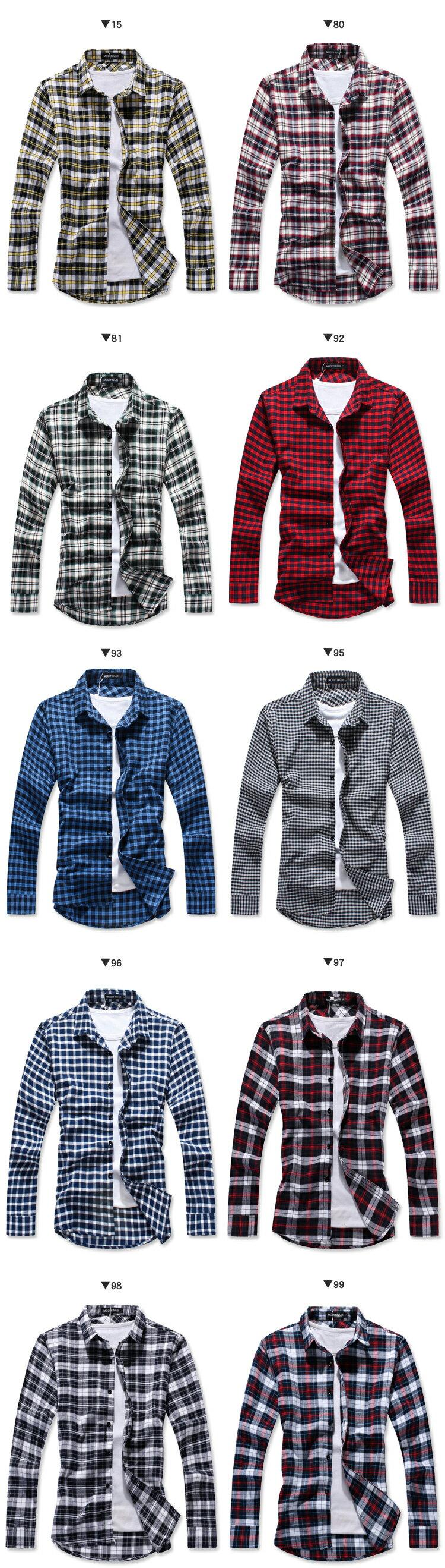 ☆BOY-2☆【NQ97012】法蘭絨格紋長袖襯衫 現+預 4