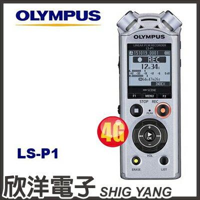※欣洋電子※OlympusLS-P1數位錄音筆(4GB可擴充)德明公司貨保固18個月
