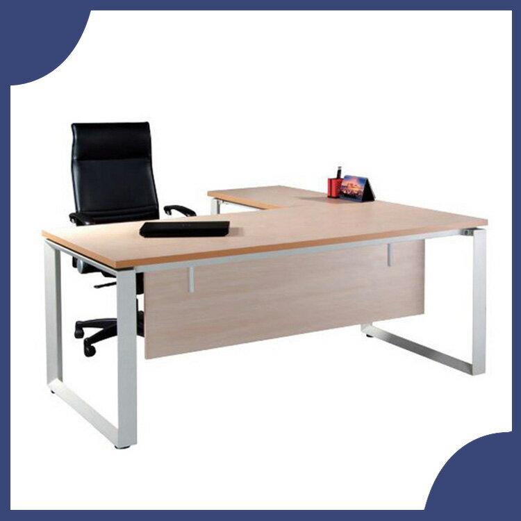 ~必購網OA辦公傢俱~ HK~180S HK~100S 水波紋 主管桌 辦公桌