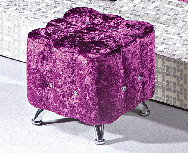 ~尚品傢俱~HY~B498~05 紫色水鑽小凳