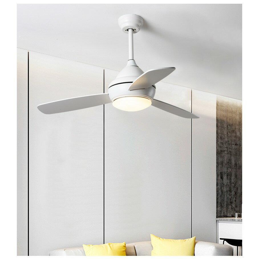 北歐風扇燈現代簡約客廳餐廳吊扇燈創意馬卡龍兒童臥室帶風扇吊燈ATF 5