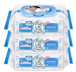 Baan 貝恩嬰兒保養柔濕巾 (80抽×3包)