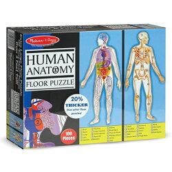 美國瑪莉莎 Melissa & Doug 大型地板拼圖人體解剖學100 片