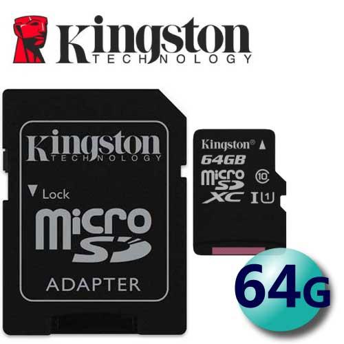 Kingston 金士頓 64GB 80MB / s microSDXC TF U1 C10 記憶卡  (SDCS / 64GB) 2