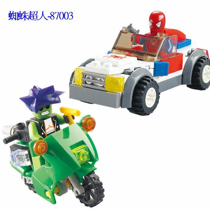 高品質 洛貓積木玩具 與樂高相容積木/ 兒童益智玩具拼裝積木/ 蜘蛛俠超人87003/80PCS