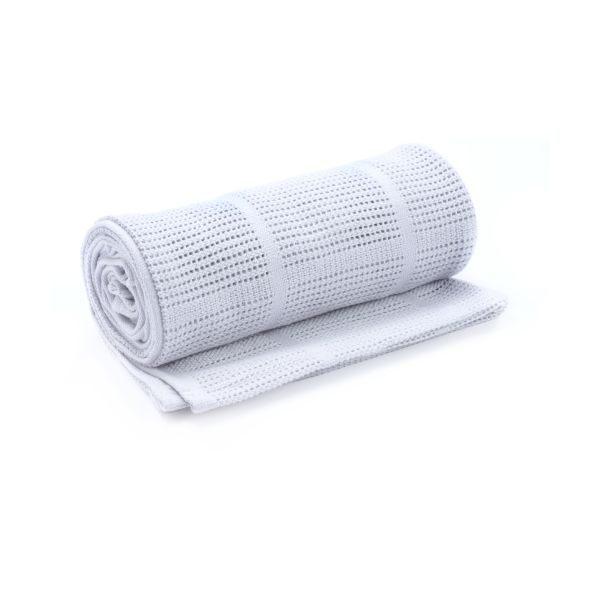 【淘氣寶寶】奇哥 mothercare 中大床棉毯/洞洞毯120*155cm-灰