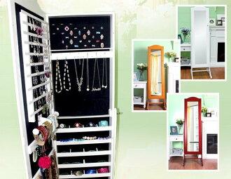 ? 新生活家具 ? 全身鏡: 韓版 《三星 天使》 珠寶穿衣鏡 立鏡 珠寶櫃 免運費