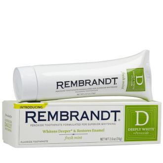 【彤彤小舖】代購 美國Rembrandt 深層增白牙膏 74g / 強化淨白牙膏 85g 美國原廠