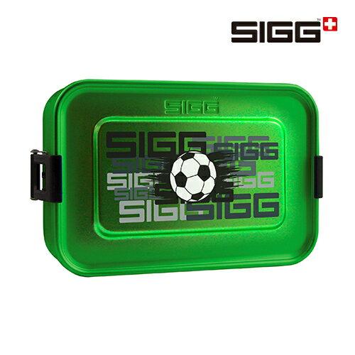 SIGG Metal Box Plus S 午餐盒 / 便當盒 綠色+足球圖案-小 - 限時優惠好康折扣