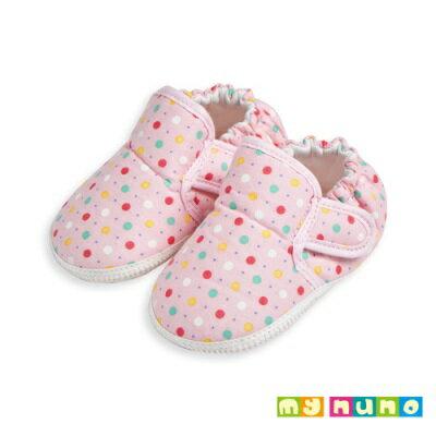 my nuno 水玉點點輕量學步鞋 (粉色)-11.5cm