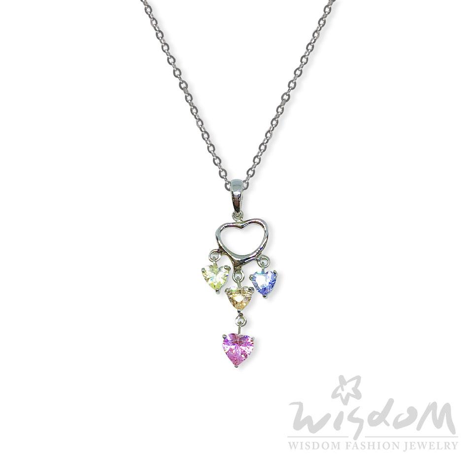威世登時尚珠寶-璀璨之心白鋯白鋼套鍊 ZNB00017-BFHX
