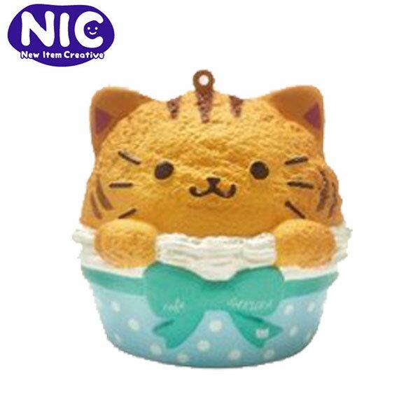 橘貓款【日本正版】cafeSAKURA杯子蛋糕捏捏吊飾捏捏樂軟軟Squishy-625571