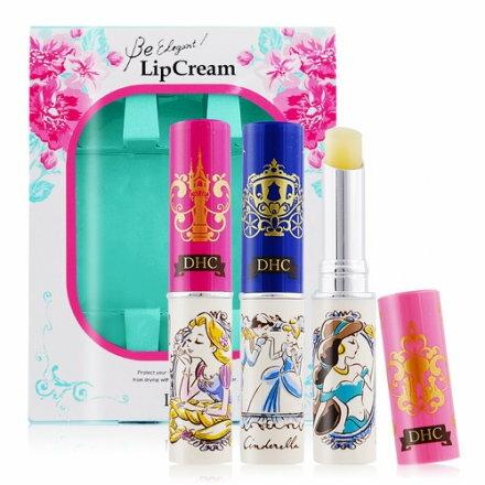 DHC x Disney公主限定版橄欖護唇膏  B款~三入組 茉莉公主+長髮公主+仙度瑞拉