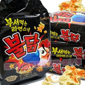 韓國 炒辣雞風味 脆麵 點心麵 (整袋含3小包入)[KR198] - 限時優惠好康折扣