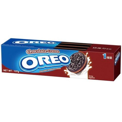 OREO奧利奧巧克力夾心餅乾137g(12入)/箱【康鄰超市】