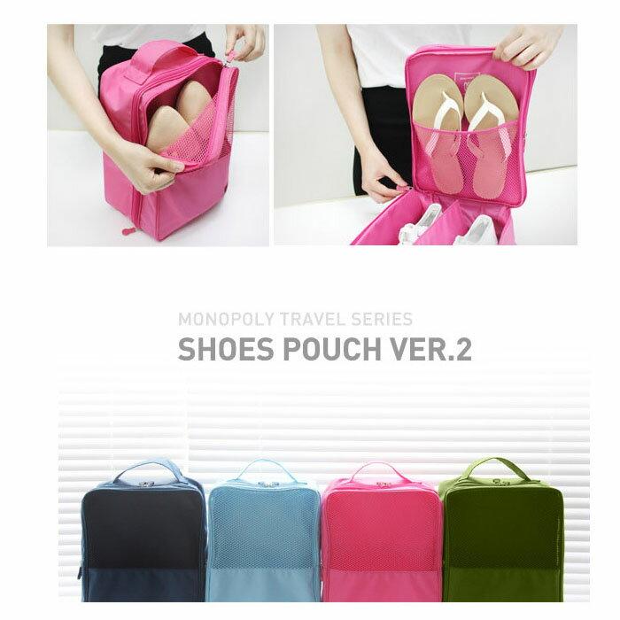 【酷創意】旅行 外出攜帶手提防水鞋袋收納袋 飛機收納衣物鞋盒 E99